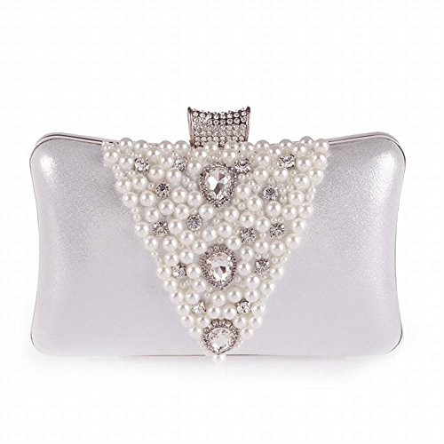 Sac Pour Main Main Main Perle argent Dames avec à à Dîner Sac Robe de à Sac Sac Diamant Cheongsam 68wAERqxS