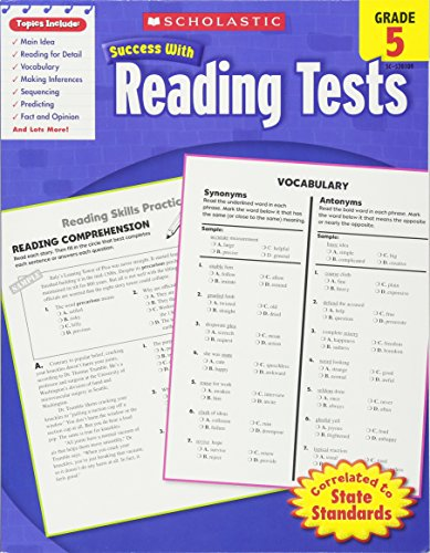 Scholastic Success With Reading Tests, Grade 5 (Scholastic Success with Workbooks: Tests Reading)