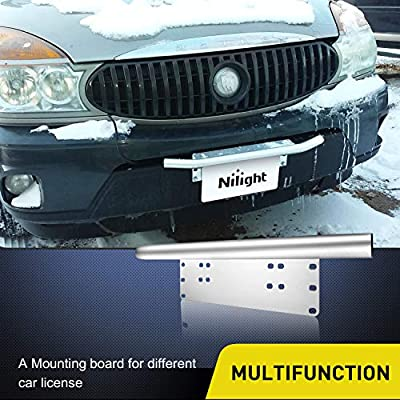 Nilight Led Light Bar Mounting Bracket Front License Plate Frame Bracket License Plate Mounting Bracket Holder for Off-Road Lights Led Work Lamps Lighting Bars, 2 Years Warranty: Automotive