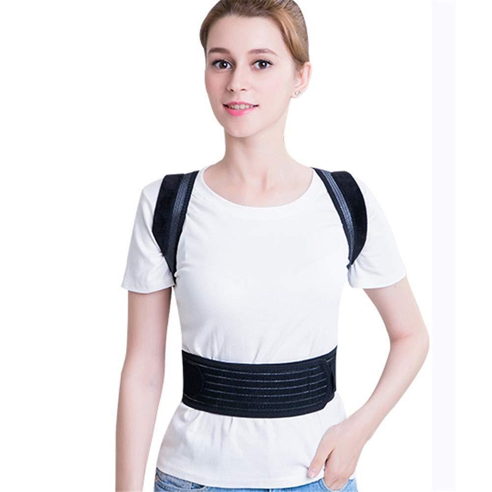 Corrector de postura Posture Corrector, Shape The Perfect Body Ergonomic Design Support Brace for Back Shoulder Neck Pain Relief Clavicle-Black (Color : Black, Size : XS45-56cm)