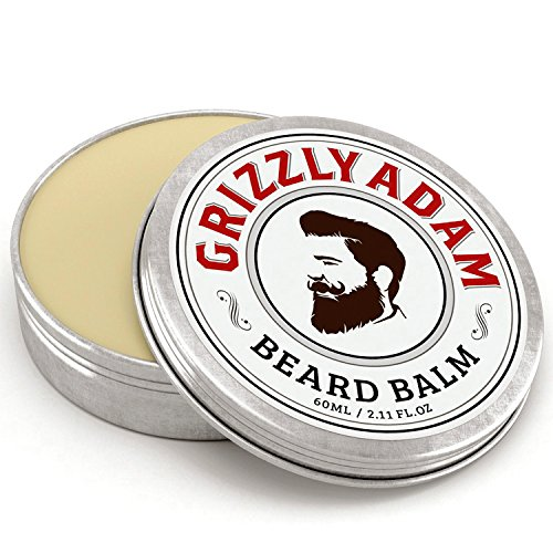 GRIZZLY ADAM Beard Balm For Men - 100% Natural Leave In Cond