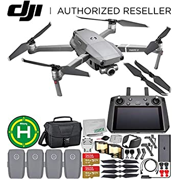 DJI Mavic 2 Zoom Drone Quadcopter with 24-48mm Optical Zoom Camera with Smart Controller Must-Have 4-Battery Bundle 1