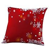 "Xmas Pillow Case, Kimloog 18 x18 Inch Merry Christmas Car Bed Sofa Decorative Festival Square Letters Cushion Cover (18x18"", B)"