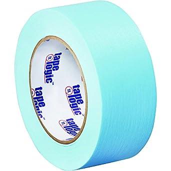 "Tape Logic T937003H Masking Tape, 60 yds Length x 2"" Width, Light Blue (Case of 24)"