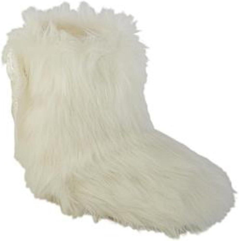 WonderKids Infant Girls White Faux Fur