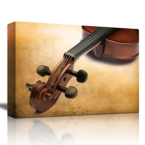 Violin on the Corner with a Neutral Gradient Background