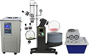 Rotavap 5L, Electrical Lift THC Distillation Solvent Vacuum Rotary Evaporator with Chiller and Pump