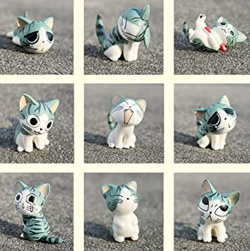 Cartoon Chis Sweet Home Cute Cat Figures Animal 9 Pcs Amazon In Toys Games