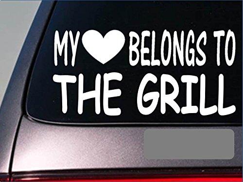 Griller My heart belongs StickerG512 8