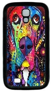 Basset Hound TPU Case Cover for Samsung Galaxy S4 and Samsung Galaxy I9500 Black