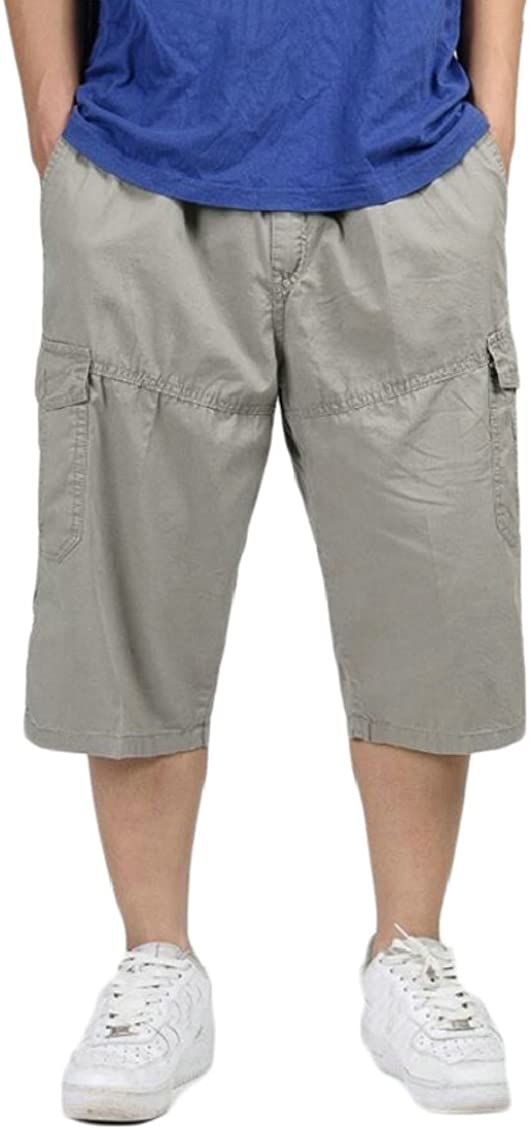 Gocgt Mens Casual Outdoor Lightweight Water-Resistant Quick Dry Cargo Shorts