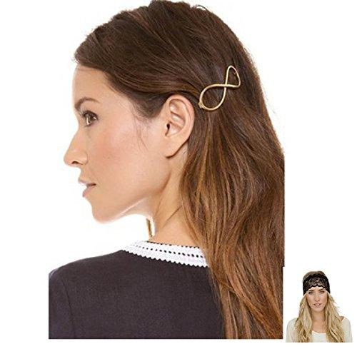 Culater® Mode Unendlichkeit 8 Gold Haarspange Haarnadel Haarschmuck Kopfschmuck