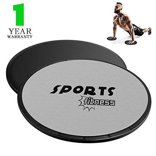 Miya Exercise Sliders Fitness Double Sided,Gliding Discs Core Sliders for Workout Bands, Strength Sliders Easy Carry to Use on Carpet or Hardwood Floors,Abdominal Exercise Equipment - Easy Core