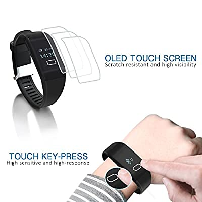 TAIR Heart Rate Bracelet With Touch Screen, Bluetooth Fitness Tracker For Android IOS