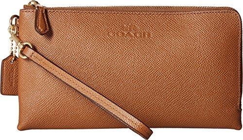 d Leather Double Zip Wallet Im/Saddle One Size (Coach Handbags Wallets)