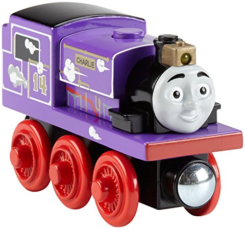 Fisher-Price Thomas & Friends Wooden Railway, Roll & Whistle Charlie - Battery Operated (Thomas Train Characters)