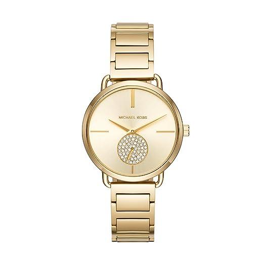 dc39d204fc67 Michael Kors Women s Portia Silver- Tone Watch MK3638  Michael Kors   Amazon.ca  Watches