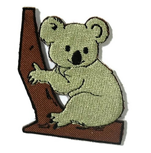 Koala Bear Australia DIY Embroidered Sew Iron on Patch (Globe Australia)