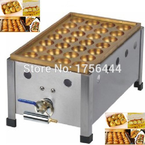 Commercial Use Gas 28pcs 4cm Japanese Octopus balls Takoyaki Maker Iron by ANGELGARDEN