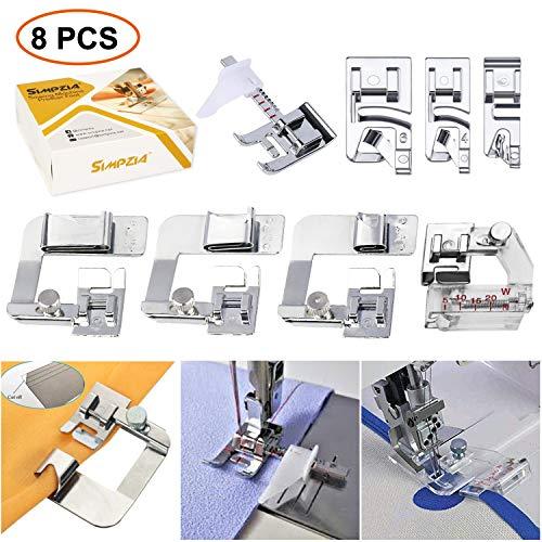 Sewing Machine Feet - 3Pcs Rolled Hem Pressure Foot Set