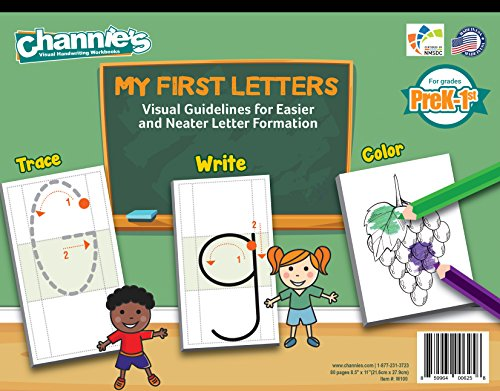 Try a New Way to Learn Alphabet, Easy & Visual workbook. Channie's MY FIRST LETTER FOR PRE-K - 1ST