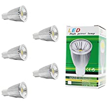 5Pack GU10 LED Bulb 7W, Warm White 3000K,Light Bulbs, 50W Halogen Bulb Equivalent, 500lm,, Perfect Standard, Warm White, 120 Degree Beam Angle, Recessed Lighting,Track Lighting