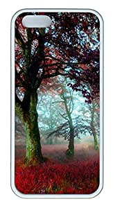 iPhone 5S Case The Mist Among The Trees TPU Custom iPhone 5/5S Case Cover White