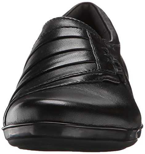 CLARKS Black Leather Flat Women's Everlay Iris cq4xw071q