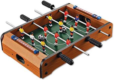 Fútbol Foosball Tabla Mini futbolín de mesa de juegos portátil de mano de recreo de fútbol Mesa de futbolín juegos de competición de fútbol de mesa juego de fútbol for adultos y