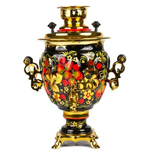 Khokhloma Electric Samovar Set with Tray & Teapot Russian Samovar Tea Maker by Tula (Image #6)