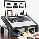 Laptop Stand Riser with Height Adjustable – FEZIBO Laptop Holder Vented, Ergonomics Design Laptop Holder Organizer for Notebooks