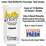 Insta-TEST BORATE Test Strips, packages of 25 strips - CASE of 12
