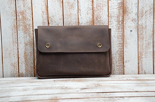 Genuine A4 Size Vintage Leather Folder, Document Holder, Office Paper File case,Leather Folder for Papers and documents, Leather Folio, Portfolio, Business Gift ()
