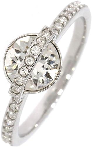 Swarovski Bague Femme Platine Cristal Transparent Ronde 5226283 ...
