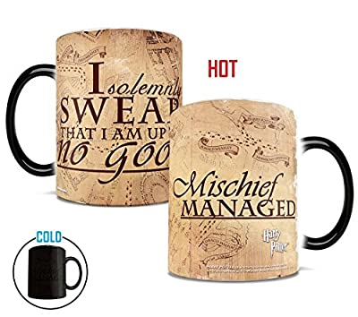 Morphing Mugs Harry Potter Hogwarts Magical Marauder's Map Heat Reveal Ceramic Coffee Mug - 11 Ounce