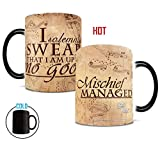 #3: Morphing Mugs Harry Potter Hogwarts Magical Marauder's Map Heat Reveal Ceramic Coffee Mug - 11 Ounce (Parchment Paper Reveal)