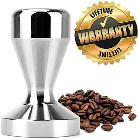 PerriRock Stainless Steel Coffee Tamper Barista Espresso Tamper 51mm Base Coffee Bean Press