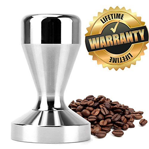 PerriRock Stainless Steel Coffee Tamper Barista Espresso Tamper 51mm Base Coffee Bean Press by Topoton