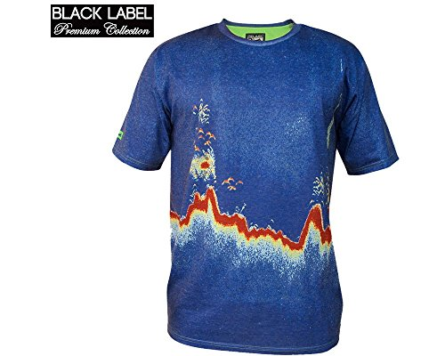 Pelagic Premium Fish Finder T-Shirt - Fish Finder Blue - XL