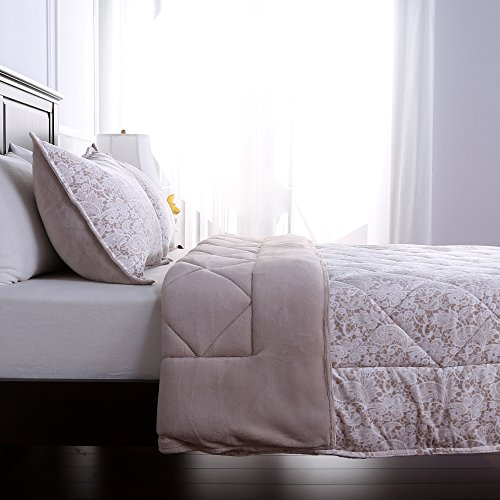 Berkshire Blanket Lace Patterned Reversible Comforter and Sh