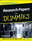 Research Papers for Dummies®, Geraldine Woods, 0764554263
