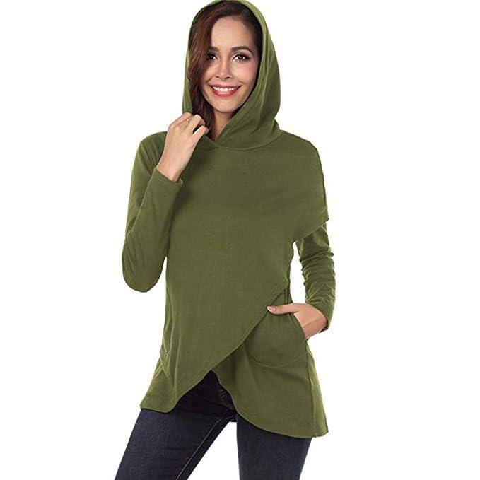 Damen Sweatshirt Tops SUNNSEAN Frauen Lässige Karierte Kapuze Langarm  Hoodies Stilvolle Pullover Oberteile Lose Stilvolle Kleidung Elegante  Bluse  ... 4c45a5e35d