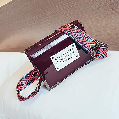 Version Mode Bag feu Fille Sac WSLMHH coréenne Paquet Sac la Rouge Large à bandoulière Sauvage marée Femme Super Messenger carré de Petit wzwRx6qX5