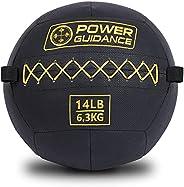 POWER GUIDANCE Textured Wall Ball, Slam Ball, Medicine Ball for Strength & Basics Exercises and Core Stre