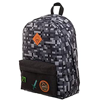 Minecraft Explorer Sword And Stone School Laptop Backpack With Padded Tech Sleeve