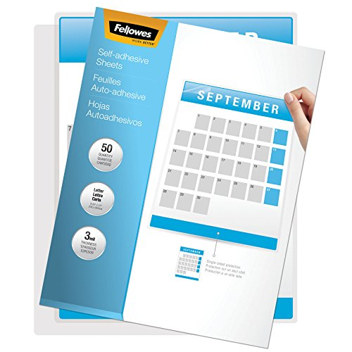 Fellowes 5221502 Self-Laminating Sheets, 3mil, 12 x 9 1/4 (Box of 50) (Adhesive Laminating Self)