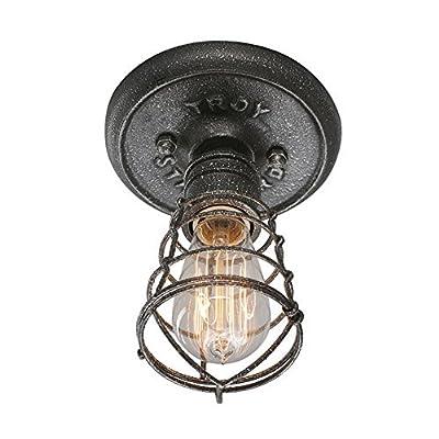Troy Lighting Conduit 1-Light Flush Mount - Old Silver Finish