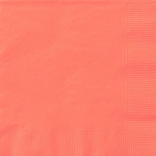 Coral Paper Napkins, 20ct -