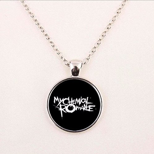 Glass Necklace,My Chemical Romance Necklace Pendant, Art Glass Necklace -