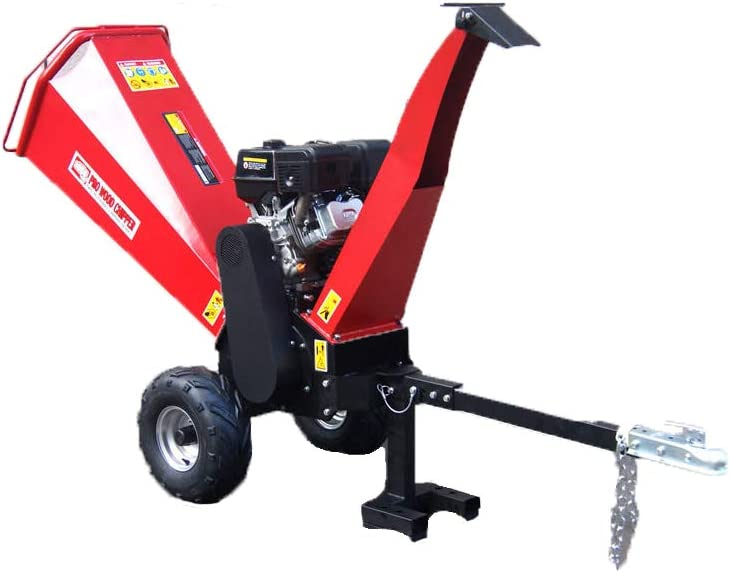 15HP Gasoline Powered Wood Chipper Shredder Mulcher with Electric Start